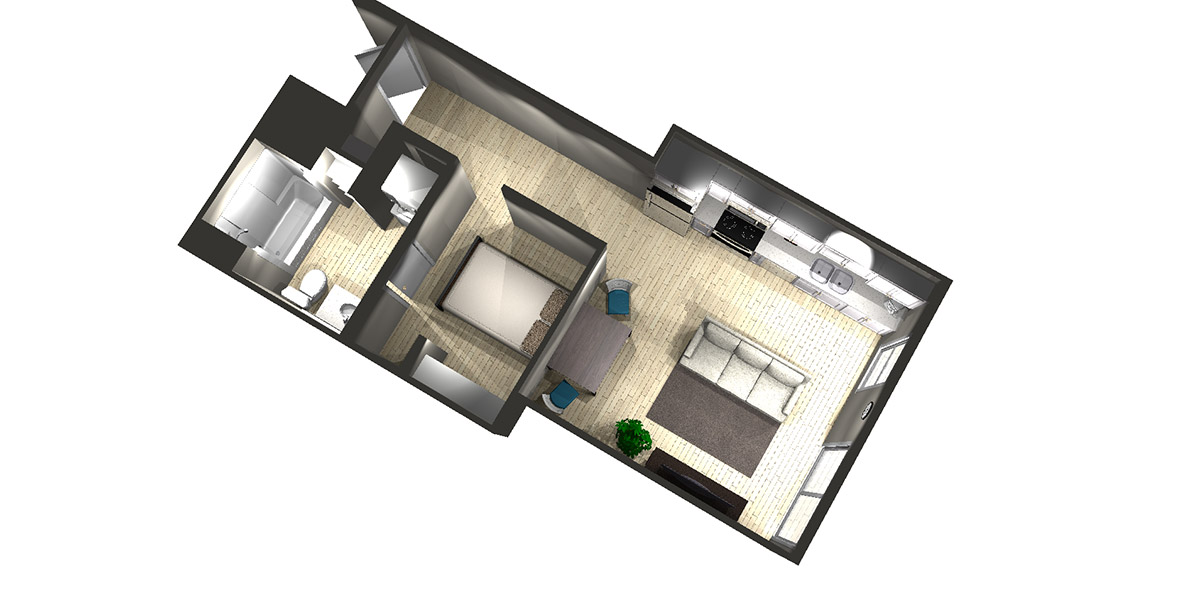 Studio A - Arabella Floor Plans