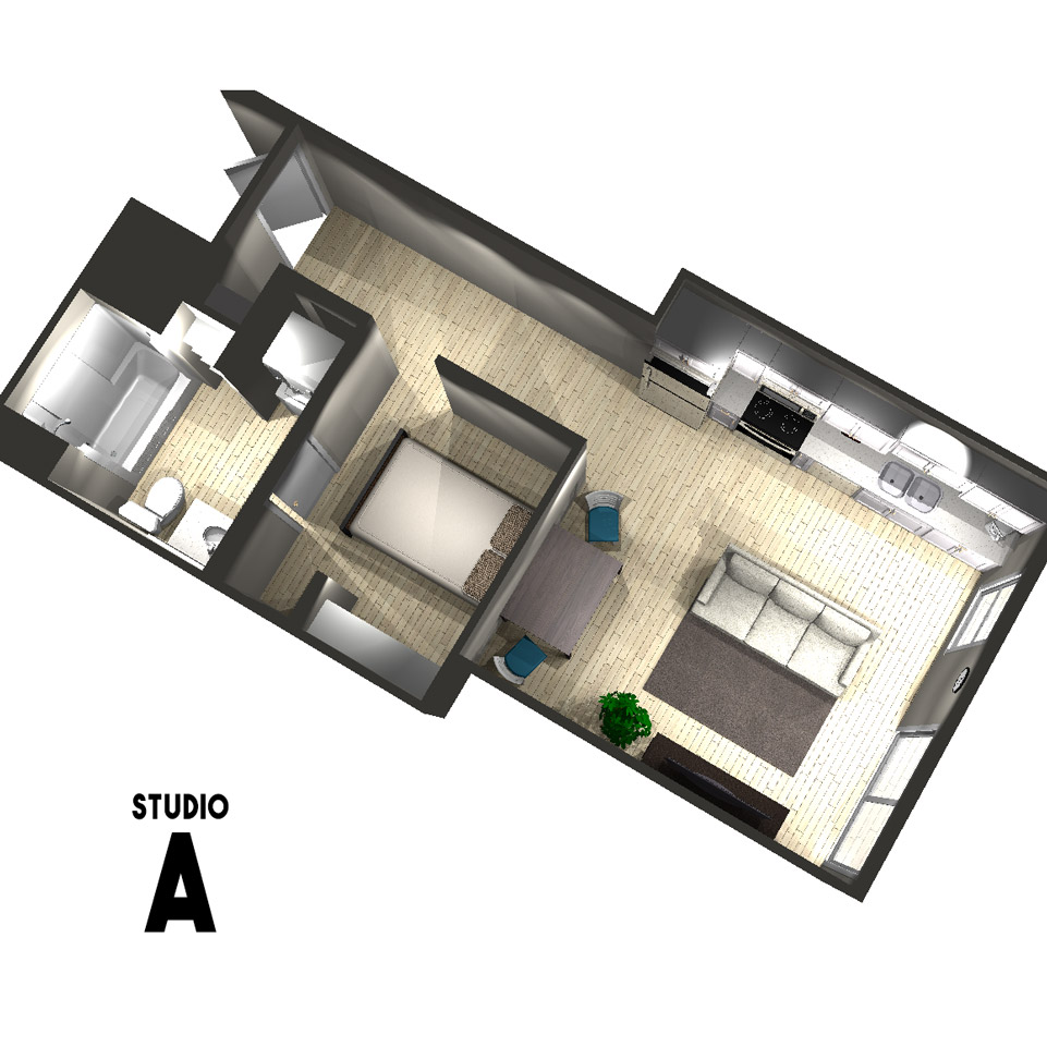 Studio A Floor Plan | Arabella