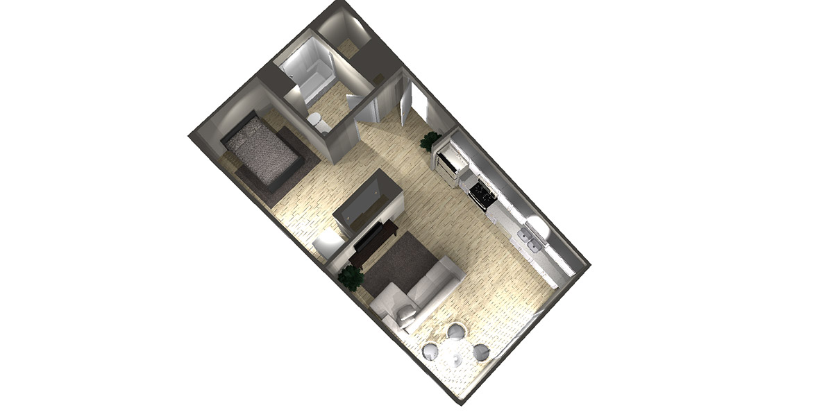 Studio A2 - Arabella Floor Plans