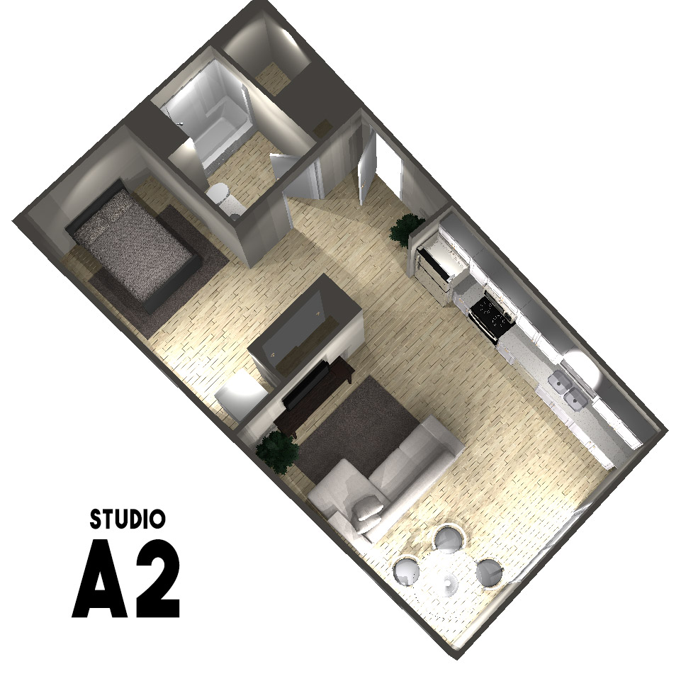 Studio A2 Floor Plan | Arabella