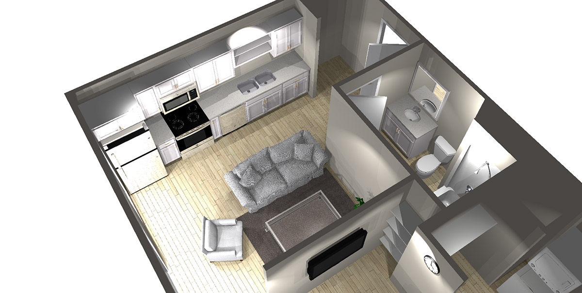 Studio B - Arabella Floor Plans