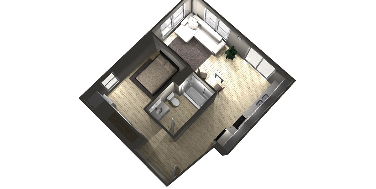 Studio C - Arabella Floor Plans