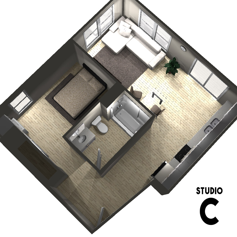 Studio C Floor Plan | Arabella