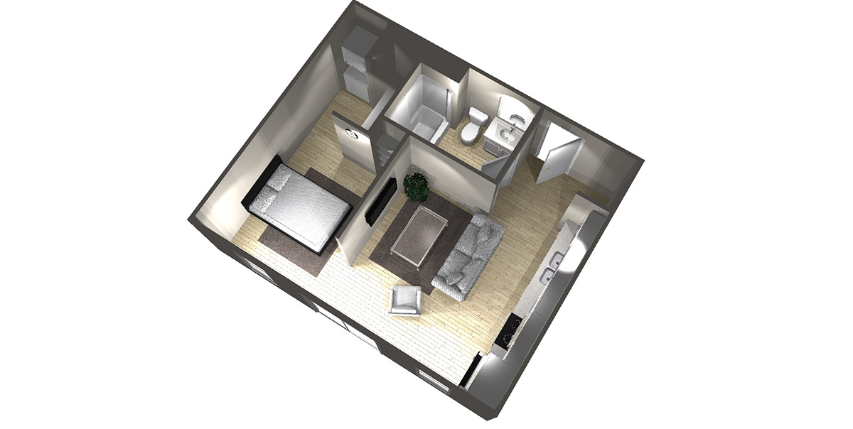Studio D - Arabella Floor Plans