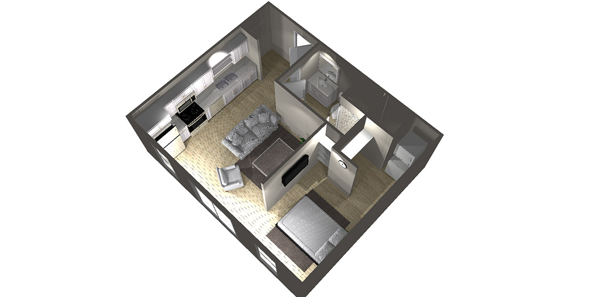 Studio D2 - Arabella Floor Plans